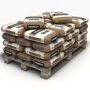 Pallet Con Sacchi Di Cemento 3d model