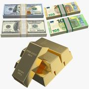 Money Collection 3d model
