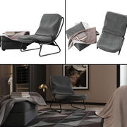 Krzesło skandynawskie i osmańskie 3d model
