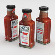 Kuhne Made For Meat Sriracha Hot Chili 235ml 3d model