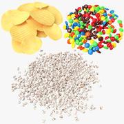 Voedsel stapels collectie 3d model