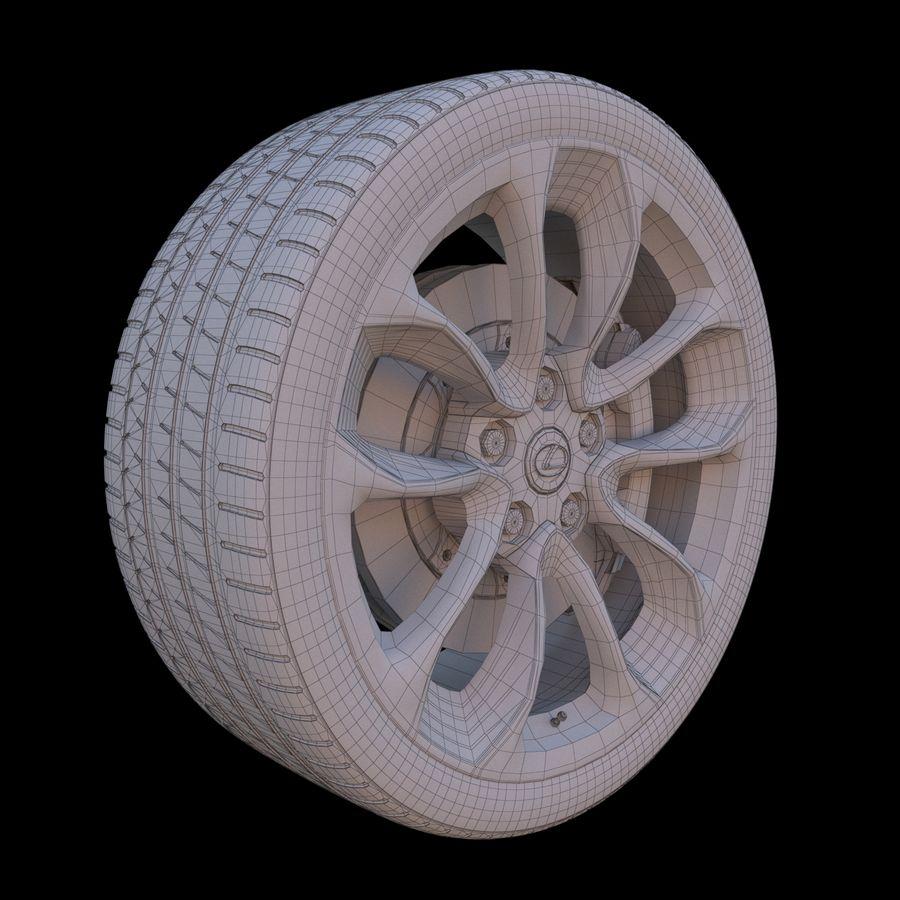 Wheel car royalty-free 3d model - Preview no. 9
