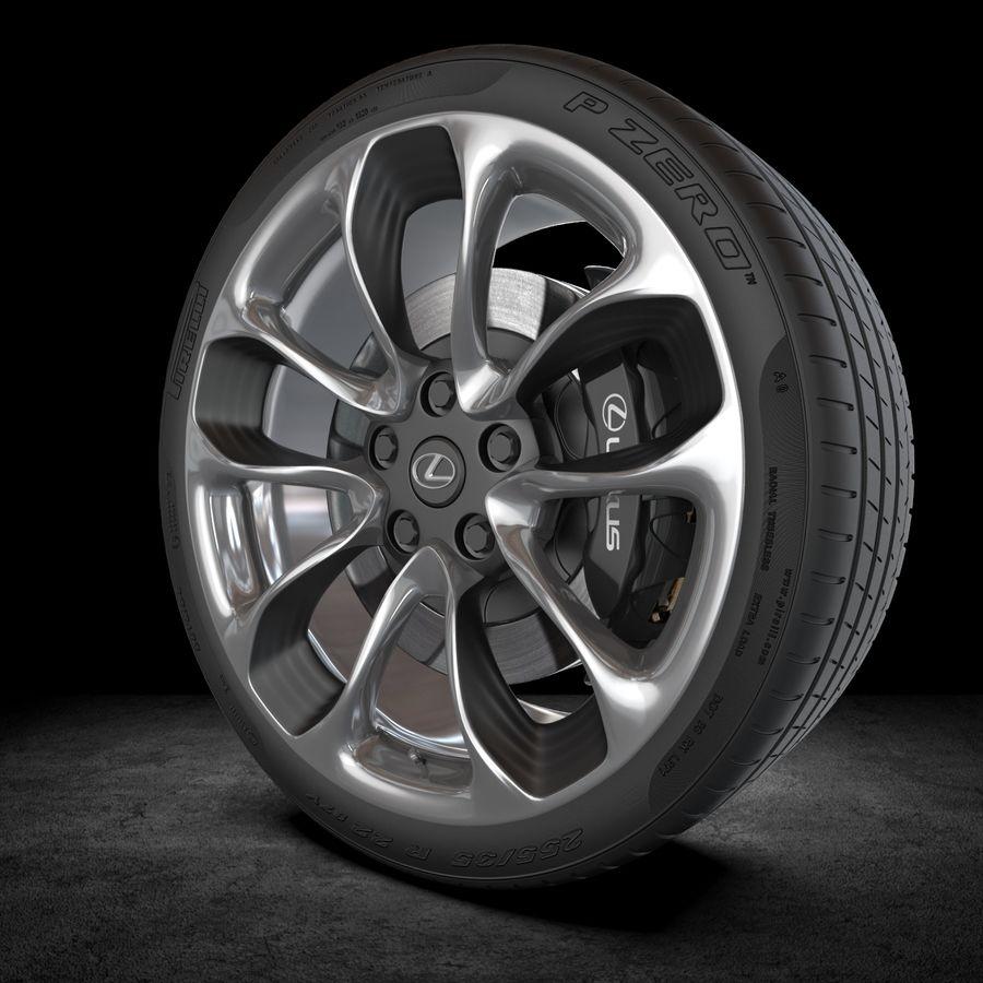 Wheel car royalty-free 3d model - Preview no. 5