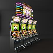 curve casino slot machine 3d model