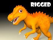 cartoon T rex 3d model