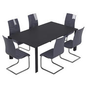 Conjunto de mesa moderna e cadeira de jantar 3d model