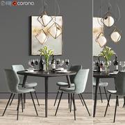 餐桌椅05 3d model