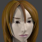 asia cute girl 3 3d model