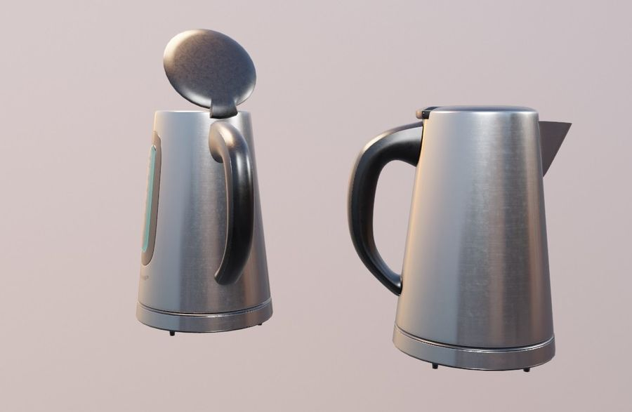 electric kettle kitchen appliance royalty-free 3d model - Preview no. 7