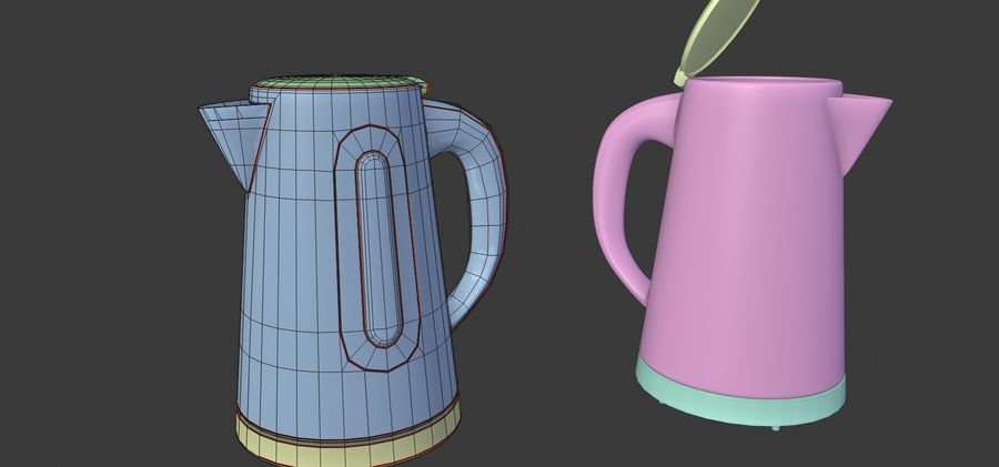 electric kettle kitchen appliance royalty-free 3d model - Preview no. 5
