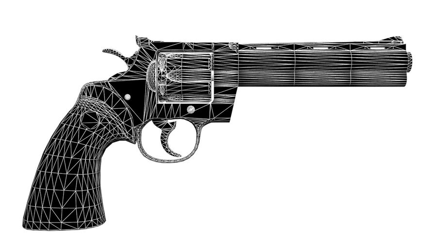 Colt Python royalty-free 3d model - Preview no. 12