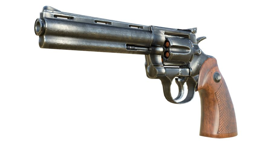 Colt Python royalty-free 3d model - Preview no. 2