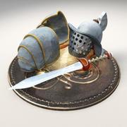 Sprzęt Gladiatora 3d model