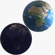 Terra dia e noite 3d model