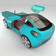 Концептуальный стиль купе 1 интерьерная версия 3d model