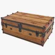 America Wooden Cabin Trunk 3d model