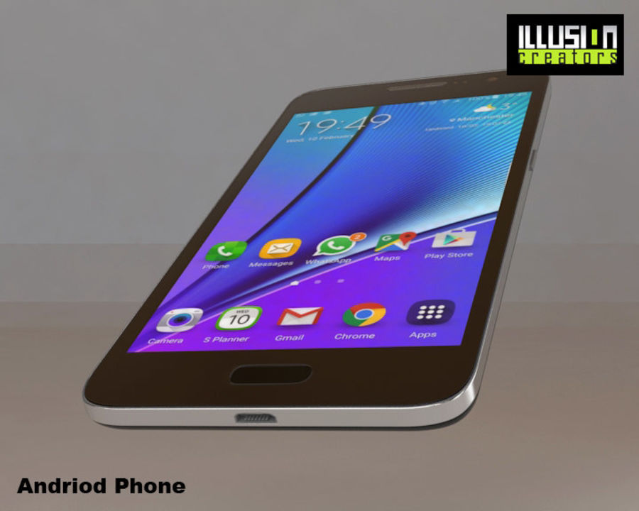 安卓手机 royalty-free 3d model - Preview no. 6