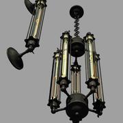 Lámpara inspirada Edison Steampunk modelo 3d