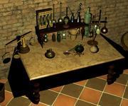Antique Scientific Equipment 3d model