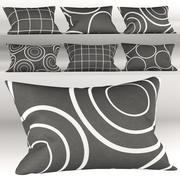 Dunkelgraue Kissen mit geometrischen Mustern 3d model