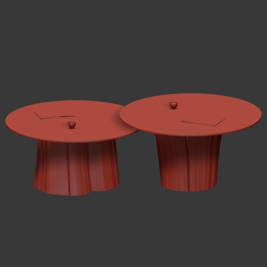 Glazen tafels van stronken royalty-free 3d model - Preview no. 19