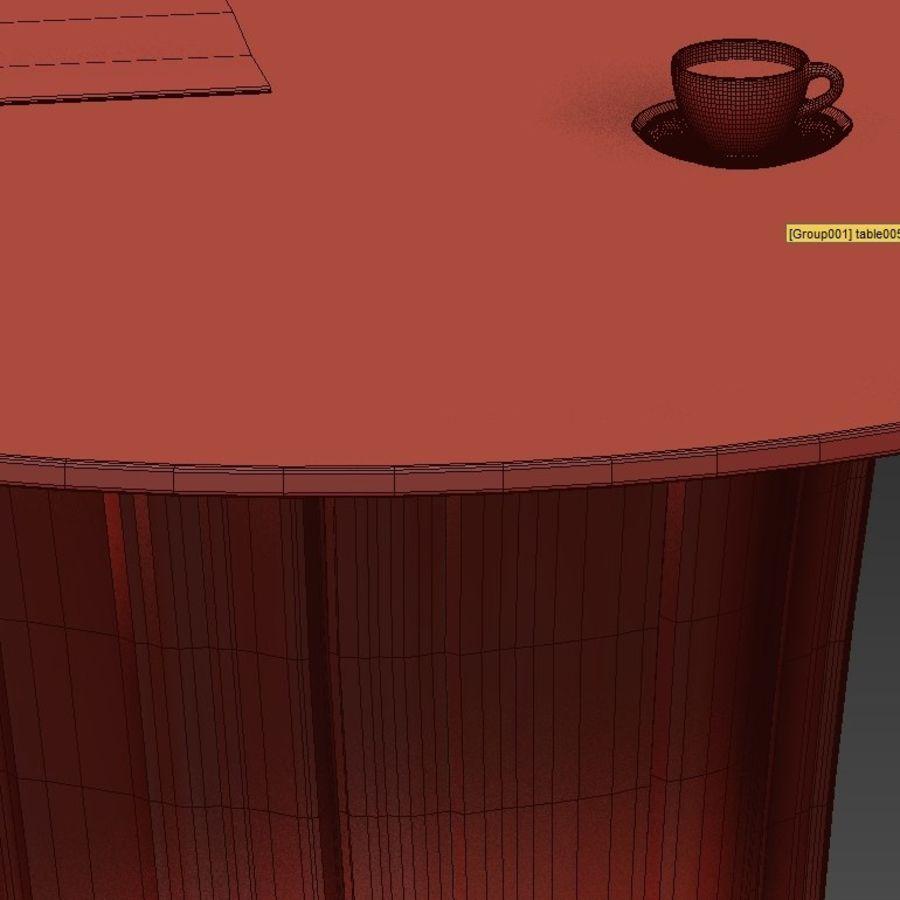Glazen tafels van stronken royalty-free 3d model - Preview no. 42