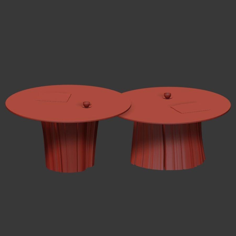 Glazen tafels van stronken royalty-free 3d model - Preview no. 34