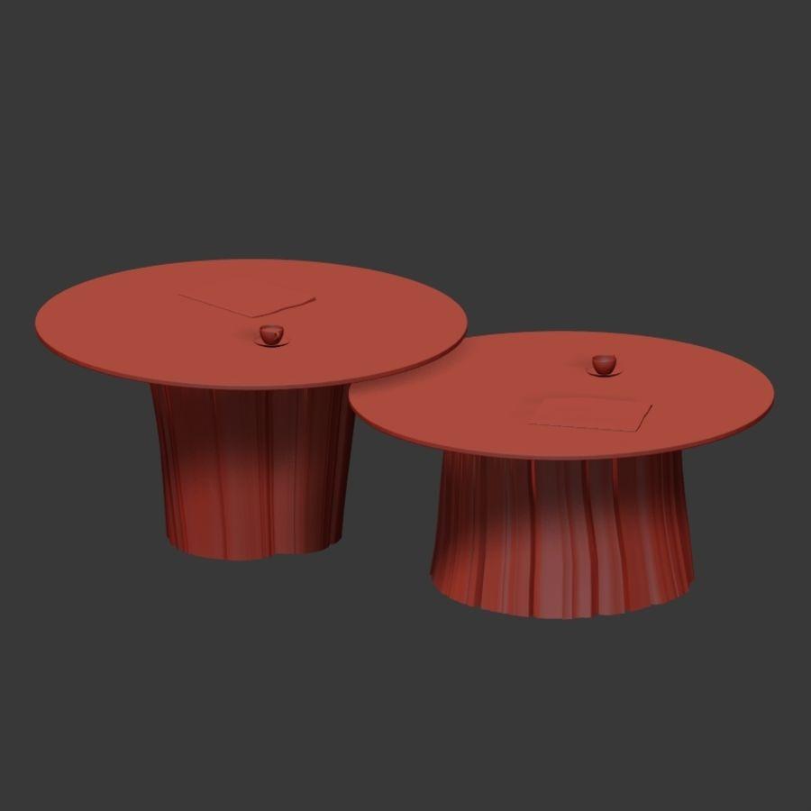 Glazen tafels van stronken royalty-free 3d model - Preview no. 30