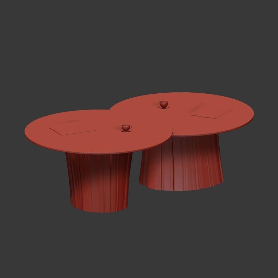 Glazen tafels van stronken royalty-free 3d model - Preview no. 8
