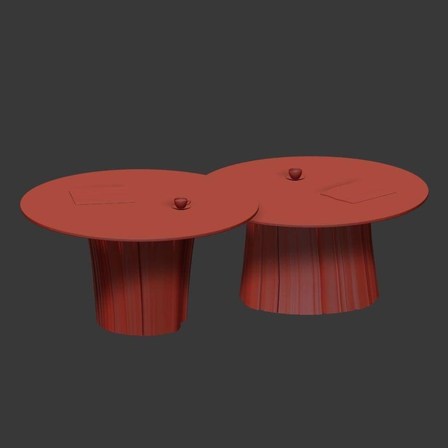 Glazen tafels van stronken royalty-free 3d model - Preview no. 38
