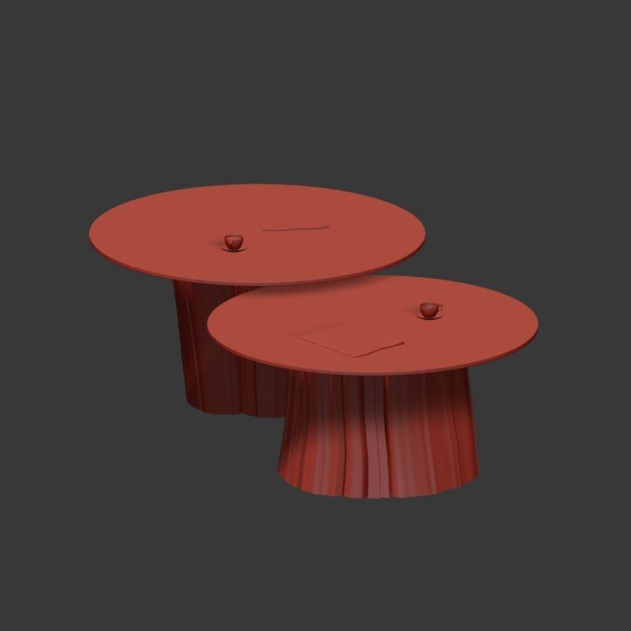 Glazen tafels van stronken royalty-free 3d model - Preview no. 27
