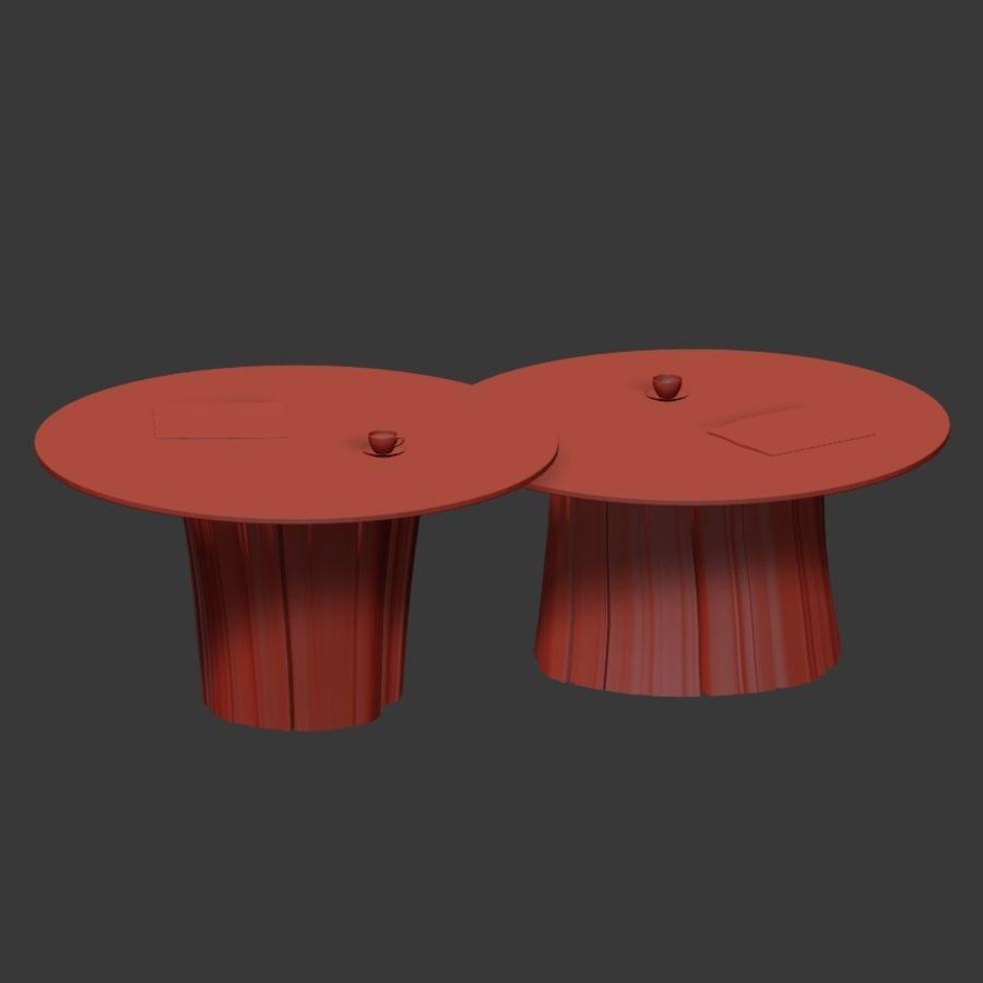 Glazen tafels van stronken royalty-free 3d model - Preview no. 36