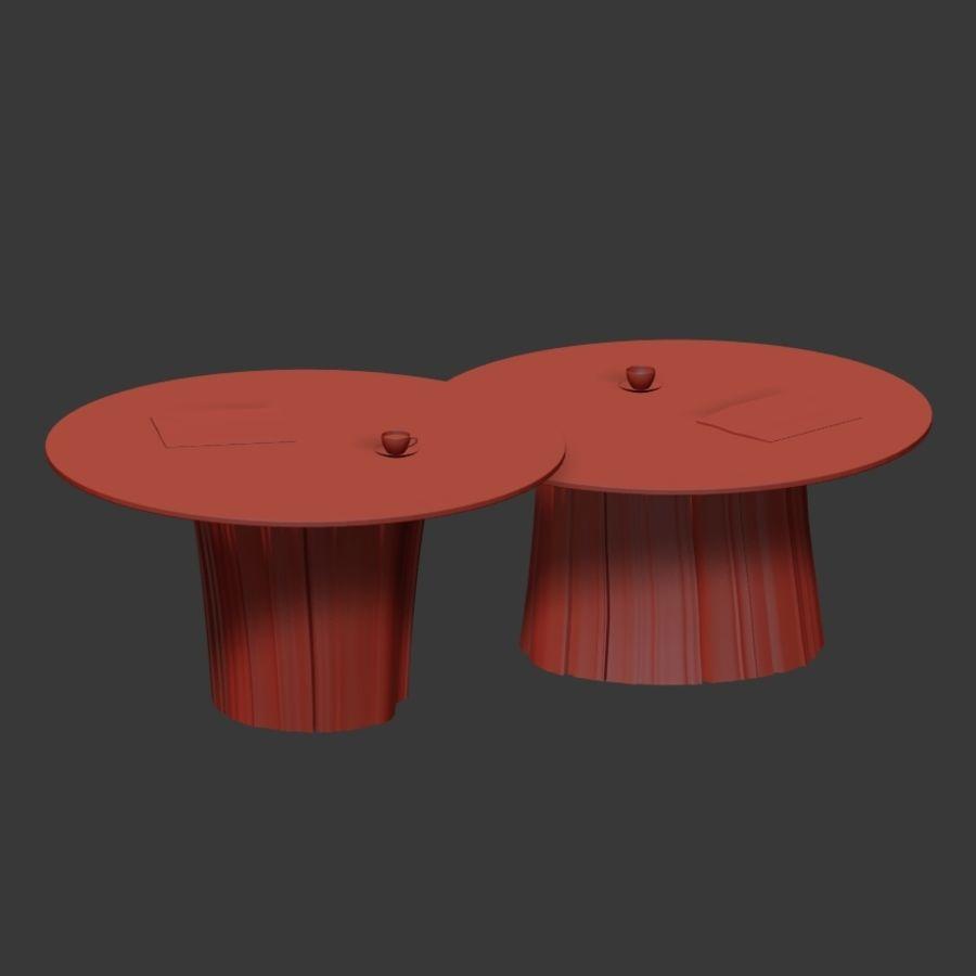 Glazen tafels van stronken royalty-free 3d model - Preview no. 39