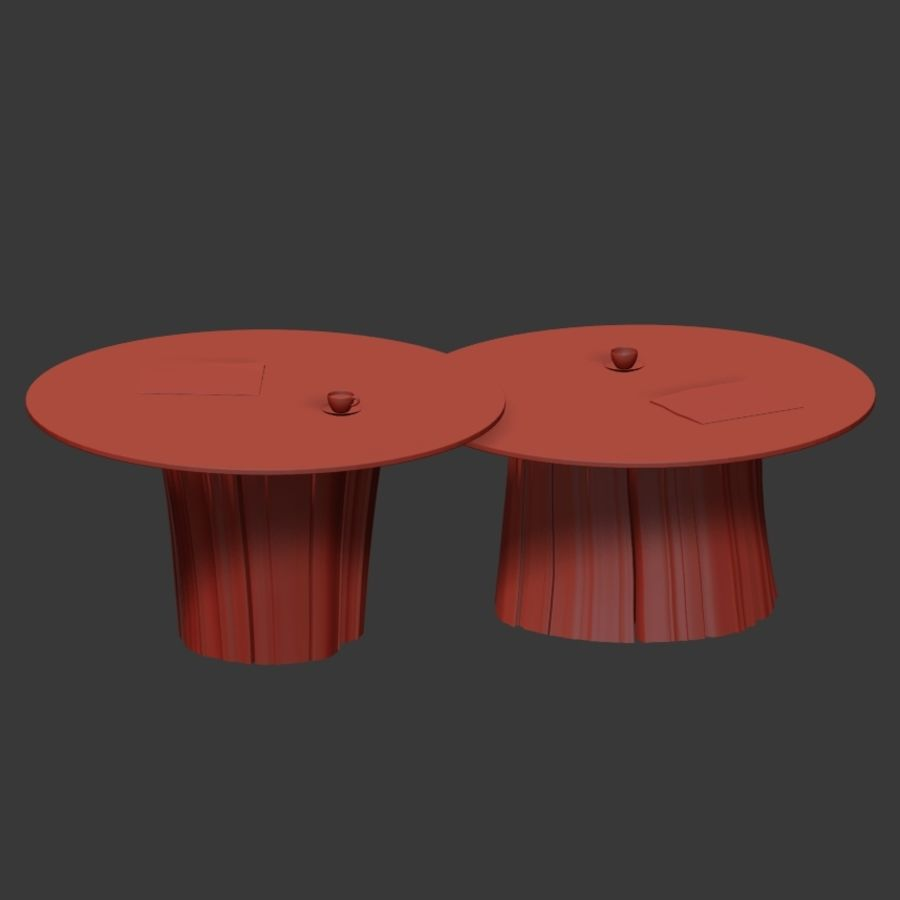 Glazen tafels van stronken royalty-free 3d model - Preview no. 35