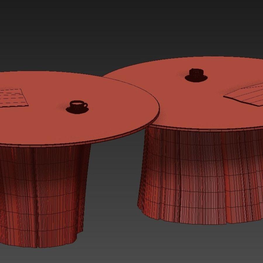 Glazen tafels van stronken royalty-free 3d model - Preview no. 40
