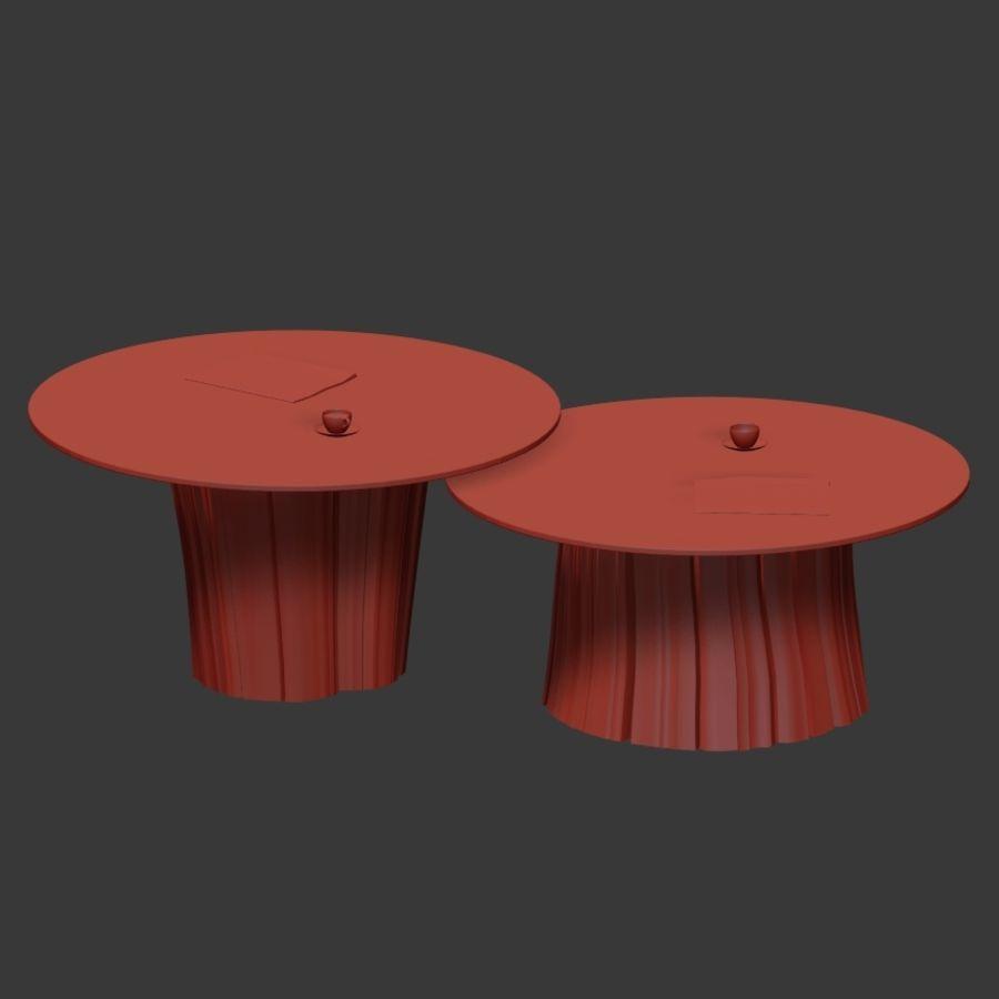 Glazen tafels van stronken royalty-free 3d model - Preview no. 31