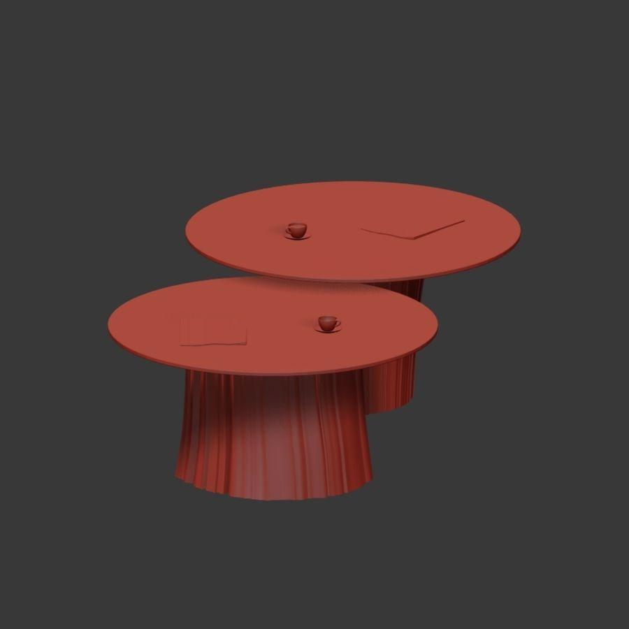 Glazen tafels van stronken royalty-free 3d model - Preview no. 24