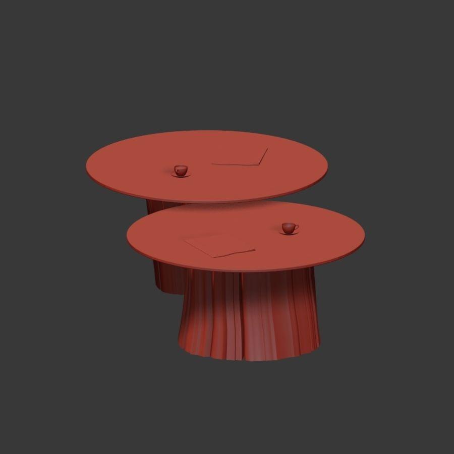 Glazen tafels van stronken royalty-free 3d model - Preview no. 26