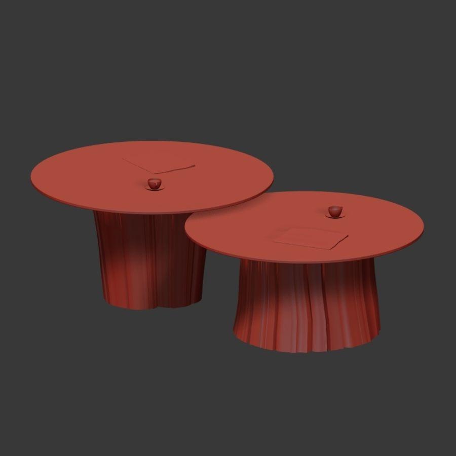 Glazen tafels van stronken royalty-free 3d model - Preview no. 29