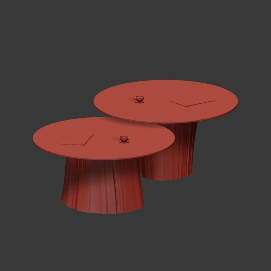 Glazen tafels van stronken royalty-free 3d model - Preview no. 23