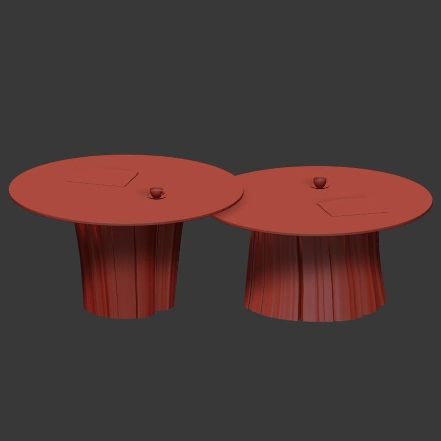 Glazen tafels van stronken royalty-free 3d model - Preview no. 33