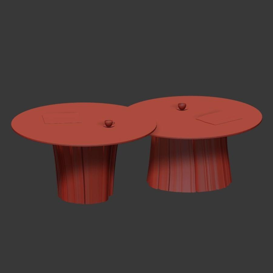 Glazen tafels van stronken royalty-free 3d model - Preview no. 37