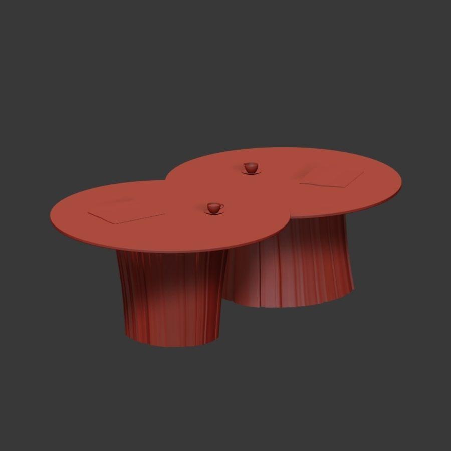 Glazen tafels van stronken royalty-free 3d model - Preview no. 9