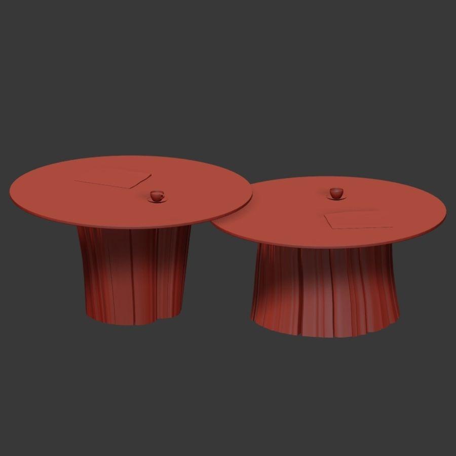Glazen tafels van stronken royalty-free 3d model - Preview no. 32