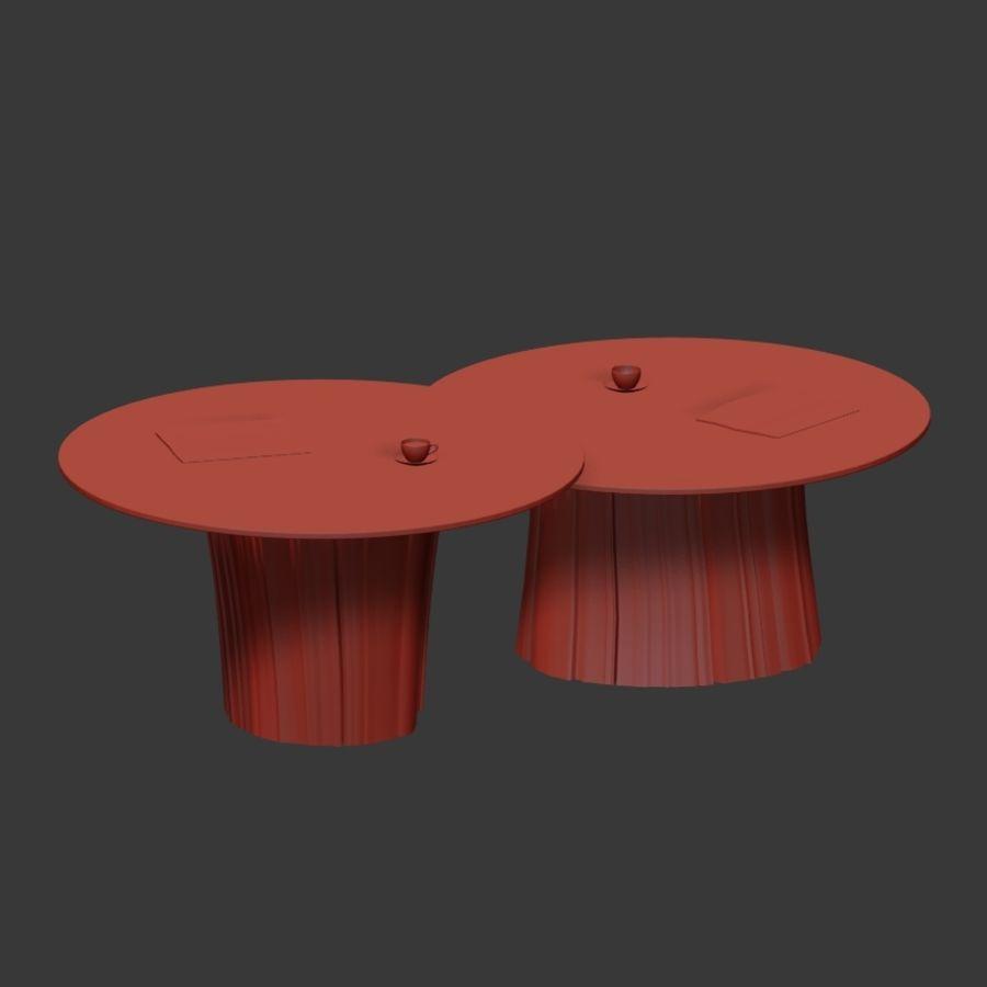 Glazen tafels van stronken royalty-free 3d model - Preview no. 6