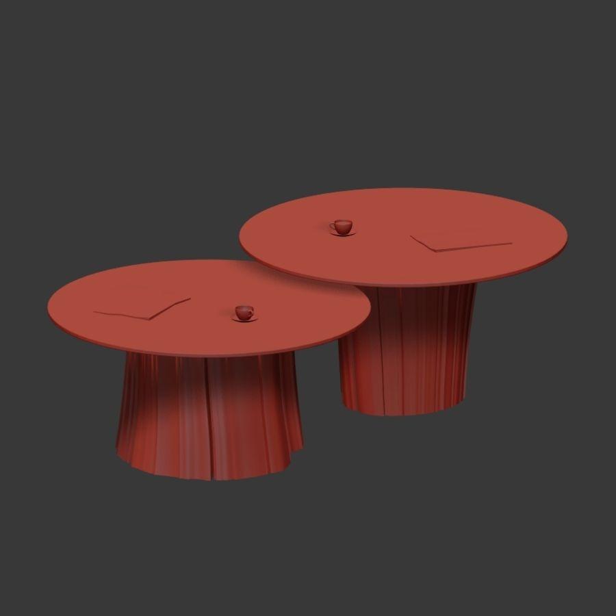 Glazen tafels van stronken royalty-free 3d model - Preview no. 22