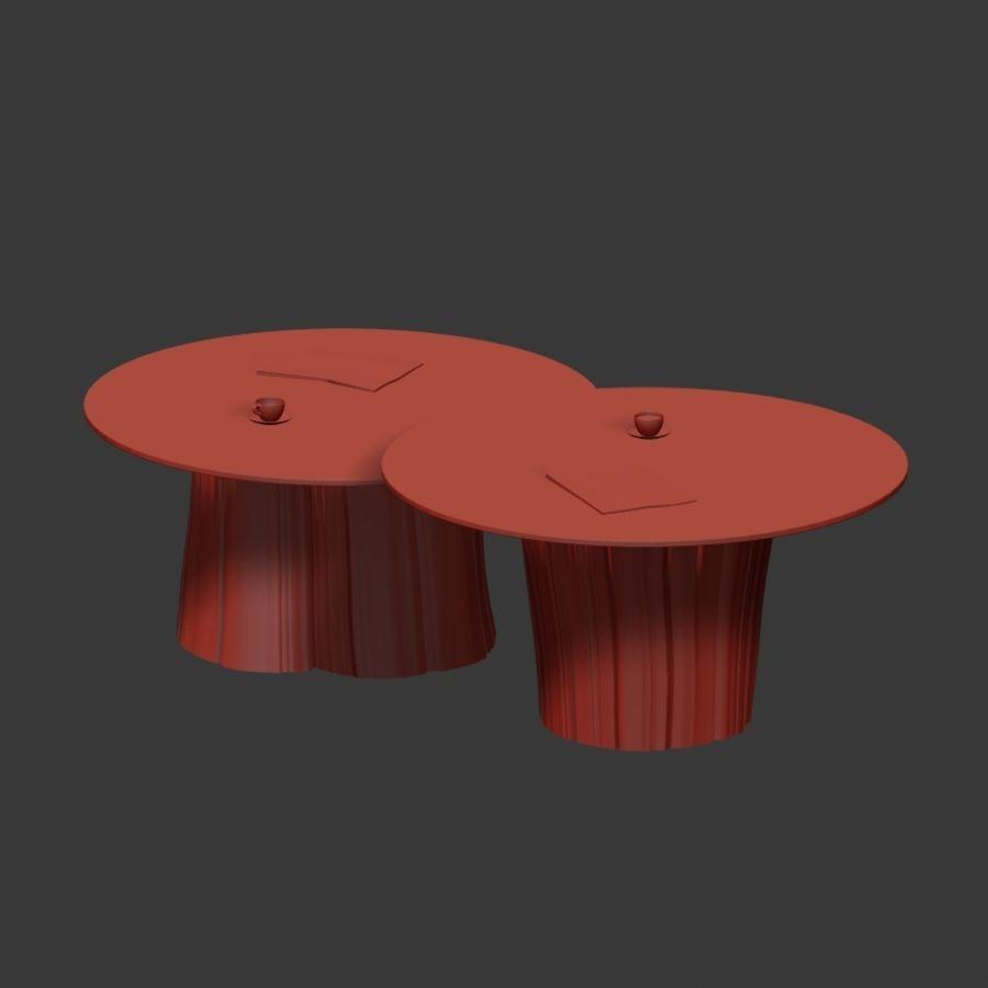Glazen tafels van stronken royalty-free 3d model - Preview no. 16