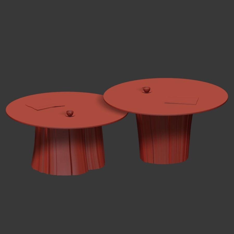 Glazen tafels van stronken royalty-free 3d model - Preview no. 20