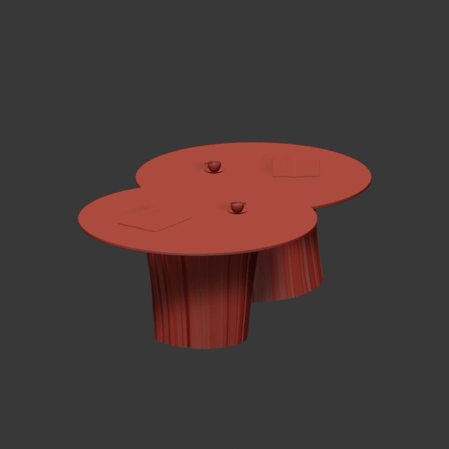 Glazen tafels van stronken royalty-free 3d model - Preview no. 11
