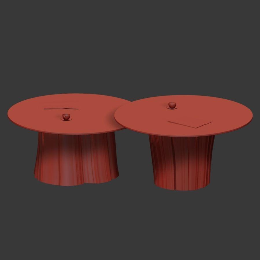 Glazen tafels van stronken royalty-free 3d model - Preview no. 18